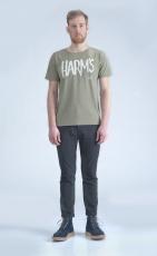 Оливковая футболка с логотипом Harm's