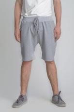 Серые классические шорты средней длины