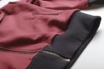 Бордовая толстовка худи с капюшоном на молнии виз замка