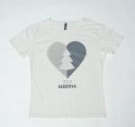 Белая футболка с принтом Love Siberia