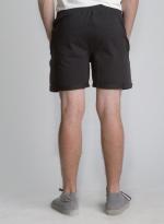 Черные короткие шорты с карманами на молнии задний вид
