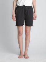 Черные короткие шорты с карманами на молнии