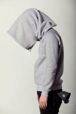 Вид сбоку развернутого варианта шарфа с пуговицами