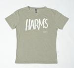 Оливковая футболка с логотипом Harm's ближний вид