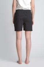 Черные короткие шорты вид сзади
