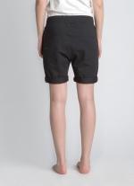 Черные классические шорты средней длины вид сзади