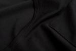 Ткань черной женской летней футболки платья